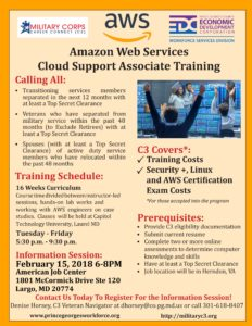 C3 Amazon Training Flyer Info Session Largo 2.15.18